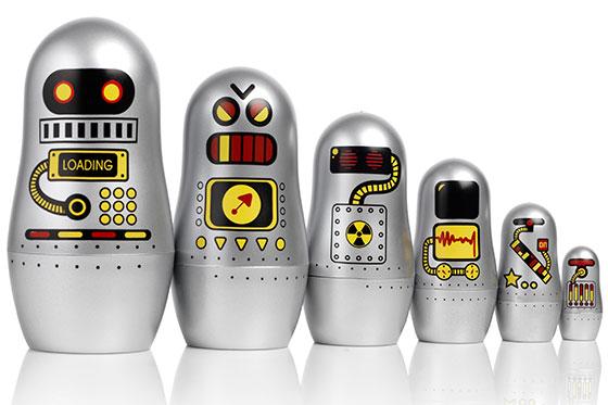 Matryoshka-Robot-Dolls