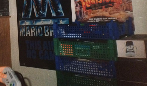 My bedroom (with crates) circa 1993/4.