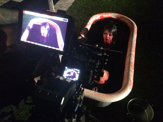 Actress-writerproducer--Pandie-Suicide-filming-Blood-Bath---