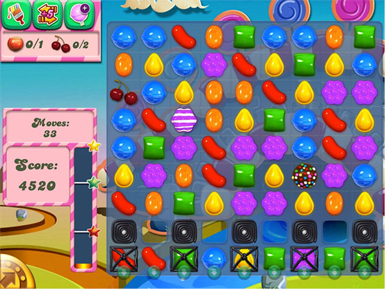 Candy Crush is a favourite for mobile gamers