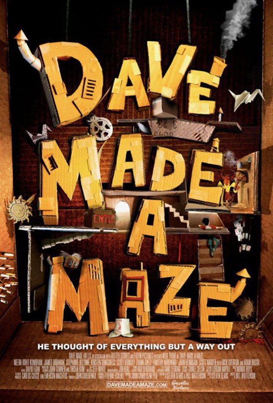 nerdly 187 trailer amp poster for �dave made a maze�