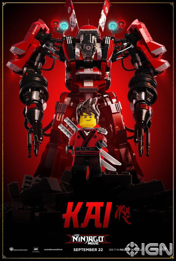 Nerdly » 8 character poster for 'The LEGO Ninjago Movie'