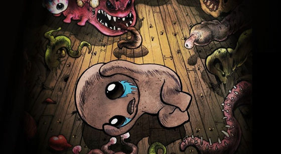 Though the graphics are pixelated in an acceptable arcade fashion, you can see from the beautifully creepy cover art that the Binding of Isaac seeks to disturb as well as entertain.