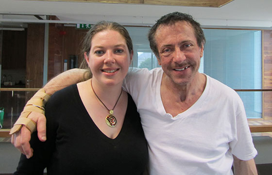 Dr Sorcha Ni Fhlainn with writer/director Clive Barker